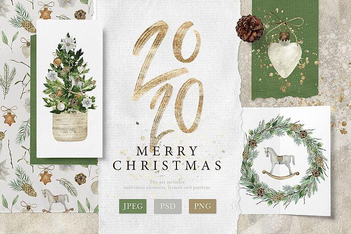 Merry Christmas-Watercolor Set