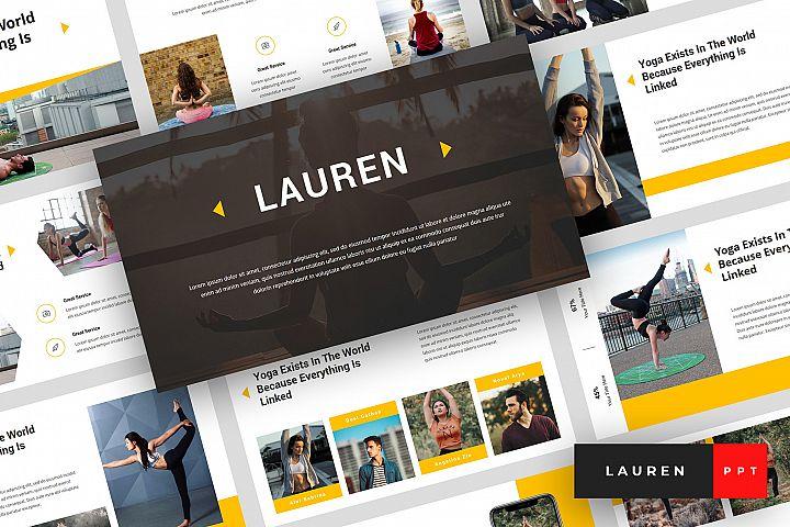 Lauren - Yoga PowerPoint Template