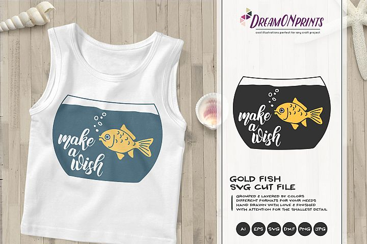 Make a Wish | Gold Fish SVG Cut Files
