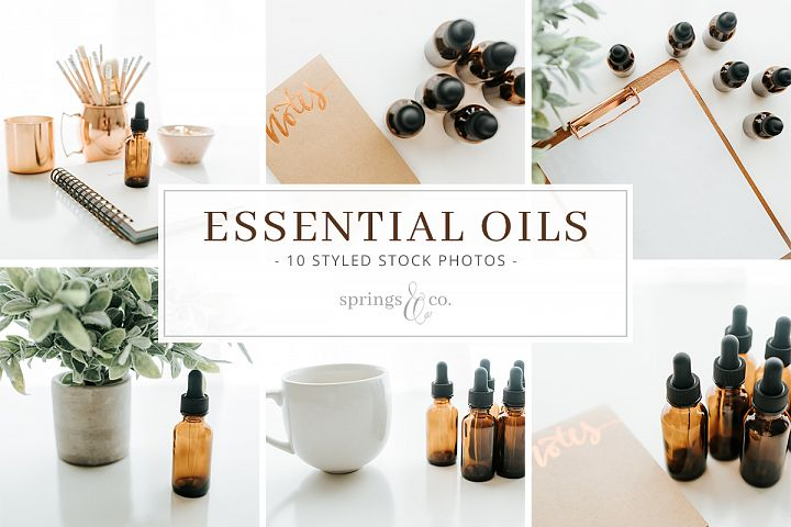 Essential Oils Stock Photo Bundle
