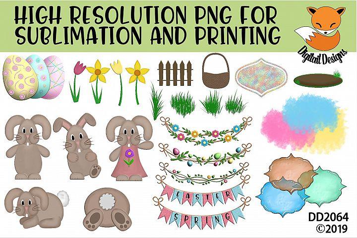 Spring Easter Elements PNG for Sublimation