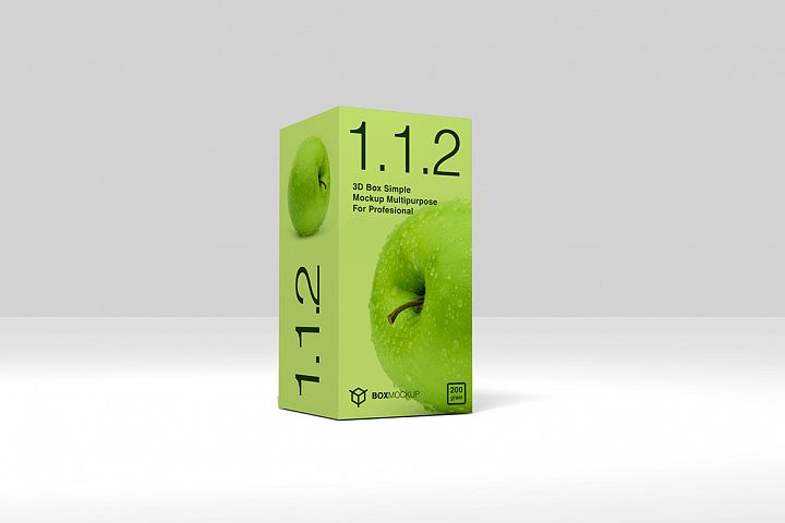 1.1.2 Simple 3D Box Mockup PSD 2