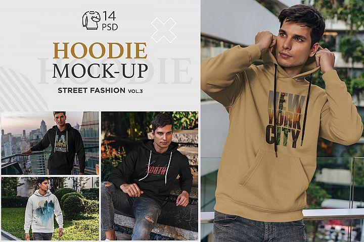 Hoodie Mock-Up Street Fashion vol.3
