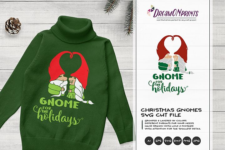 Gnome for the Holidays | Fun Christmas SVG