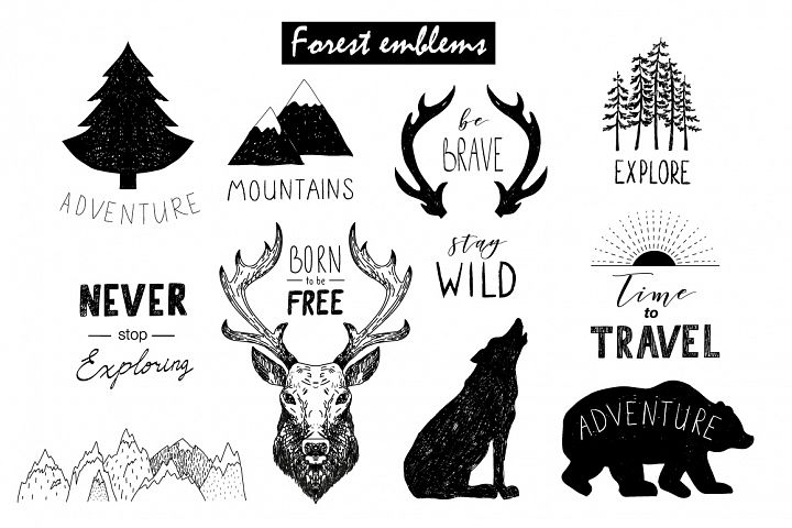 Wild Forest graphic pack - Free Design of The Week Design 3