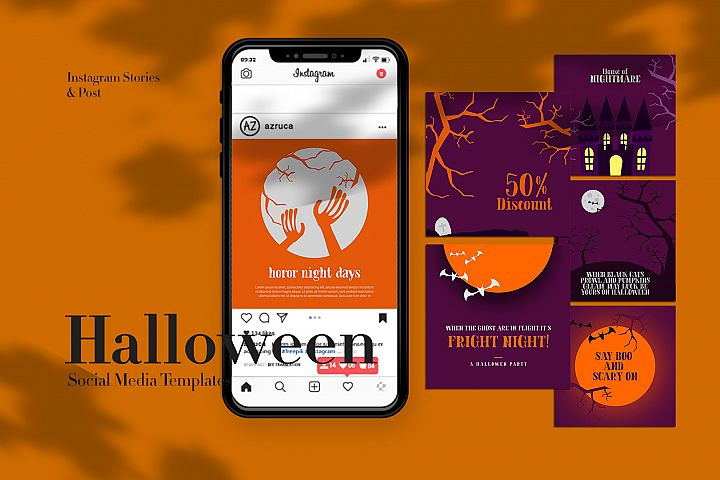 Halloween Instagram Templates
