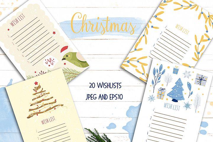 Wish List Christmas Santa letter