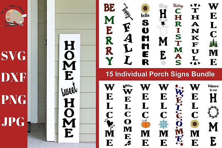 Front Porch Wood Sign Bundle svg porch signs bundle svg dxf