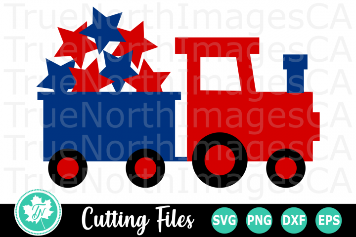 Train with Stars - American SVG Cut Files