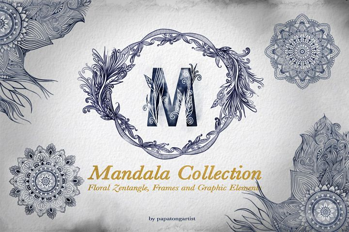 Hand Drawn Mandala & Floral Zentangle Collection