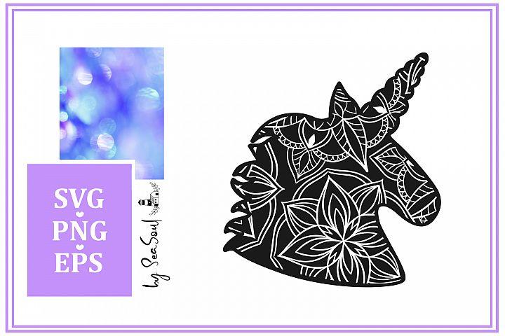 Unicorn Mandala Design SVG, PNG, EPS