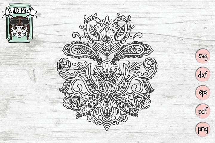 Mandala SVG file, Paisley cut file, Paisley Medallion
