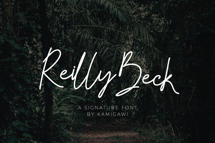 Reilly Beck - Signature Font