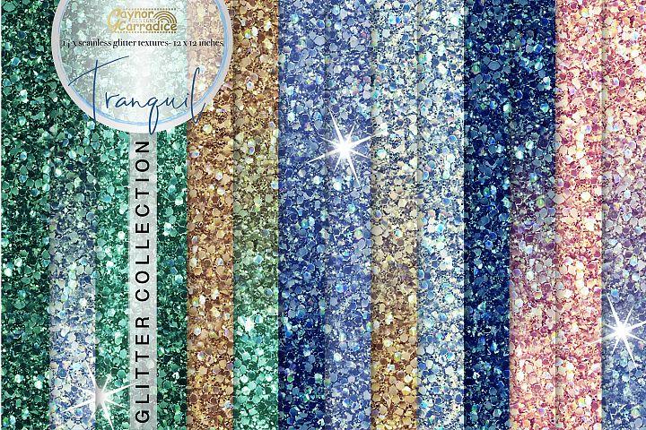 Tranquil blue seamless Glitter backgrounds