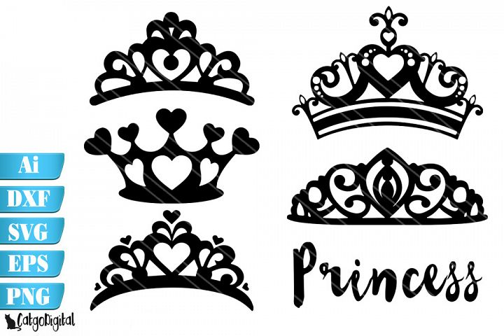 Princess Crowns Silhouette SVG Crowns