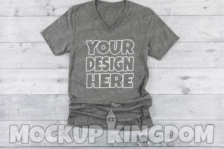 Unisex V-Neck Shirt Mockup, Bella Canvas Mockup