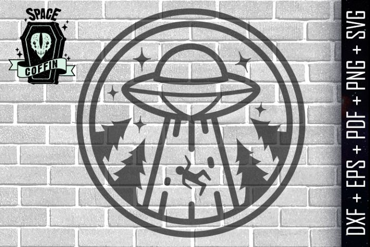Alien Abduction Silhouette SVG/EPS/DXF/PDF/PNG