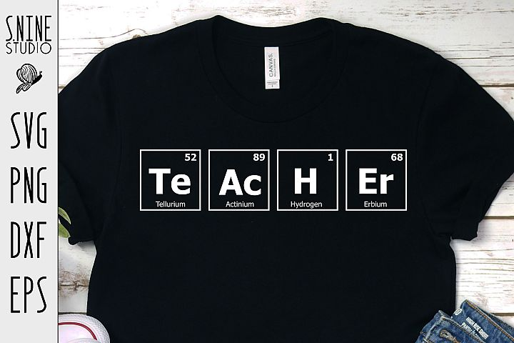 Teacher Chemistry Periodic Table for School SVG Cut File