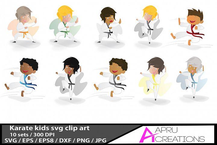 karate kids /karate kids  vector graphics / kids svg / karate kids eps  / karate  doodle