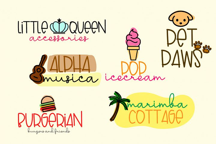Lovely Puppy - Font duo with bonus - Free Font of The Week Design4