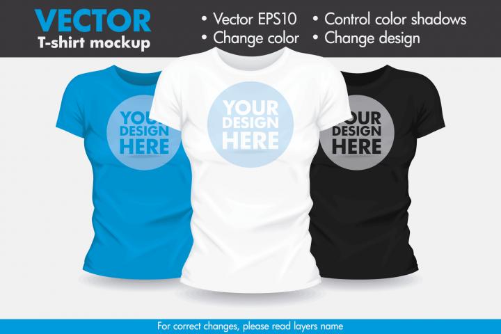 Vector T-shirt Mock-up Mockup Template