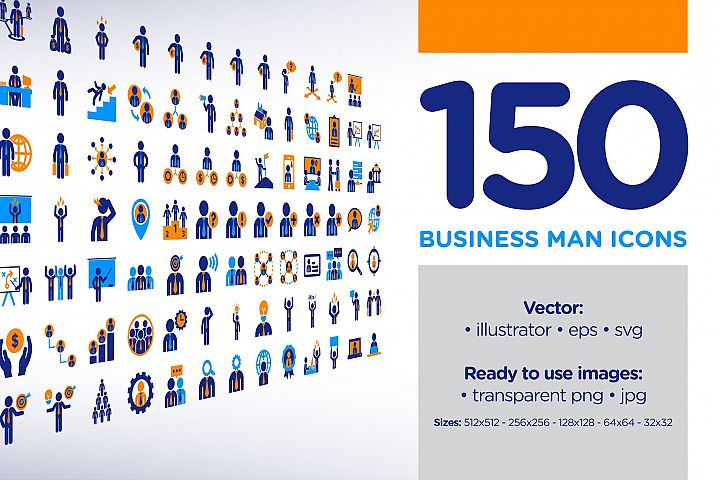 150 Business Man Icons
