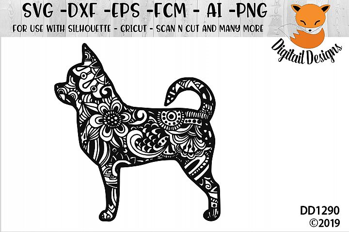 Zentangle Doodle Short Haired Chihuahua SVG