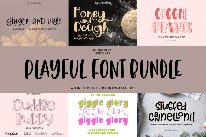 SALE! Playful Font Bundle