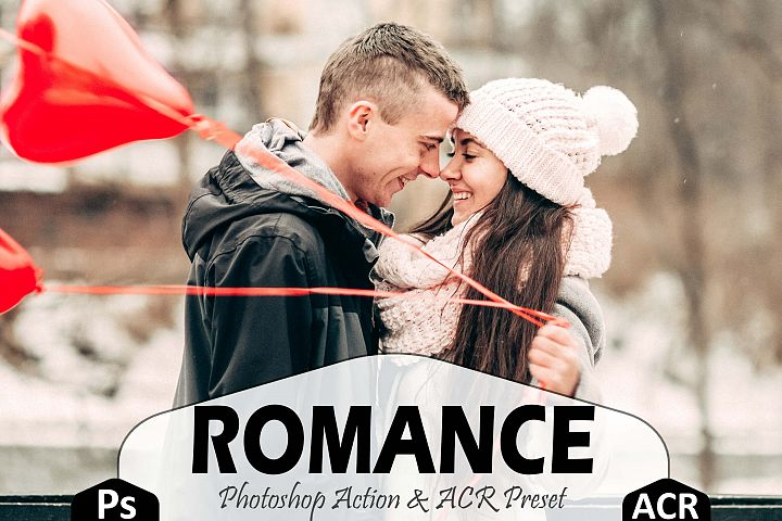 10 Romance Photoshop Actions, ACR Presets, lover valentine