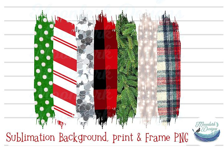 Winter Background swatches PNG plaid tree glitter stripe dot