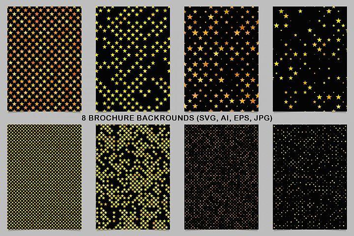 8 Yellow Brochure Backrounds