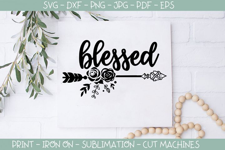 Blessed - Thanksgiving, Christian, svg, clipart, vector, dxf