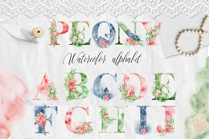 Alphabet Watercolor Clipart - Free Design of The Week