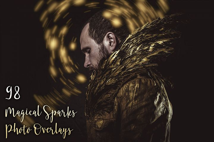 98 Magical Sparks Photo Overlays