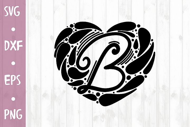 LETTER B SVG CUT FILE