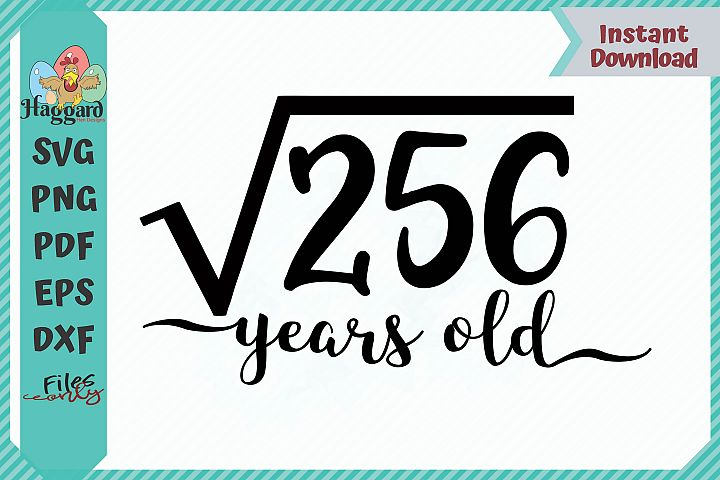 HHD Square Root Years Old SVG
