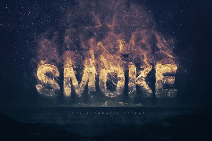 Smoke Logo Text Effect Template