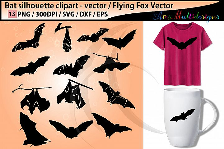 bat silhouettes svg / vector bat bird / bat clipart