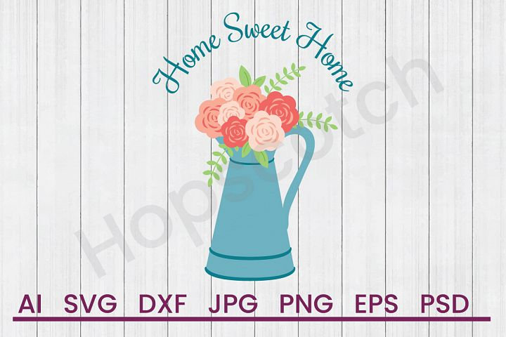 Pot of Flowers SVG, Home SVG, DXF File, Cuttatable File