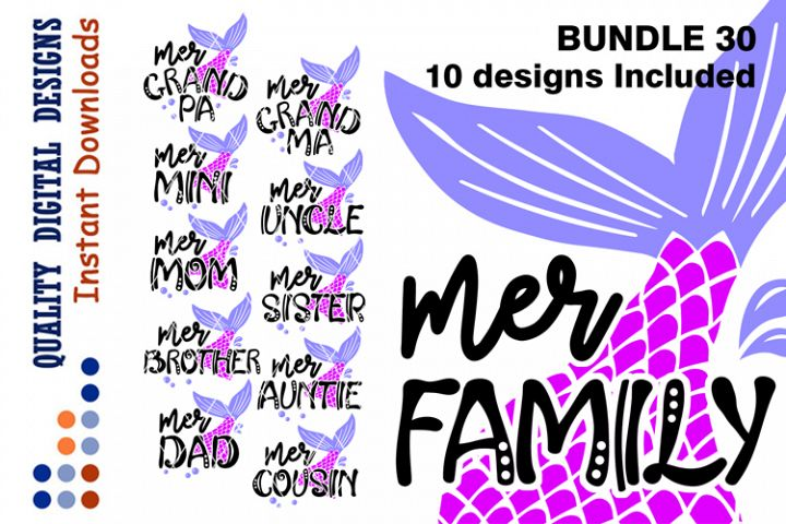 Big set 50 Off BUNDLE Mermaid Family shirts svg design