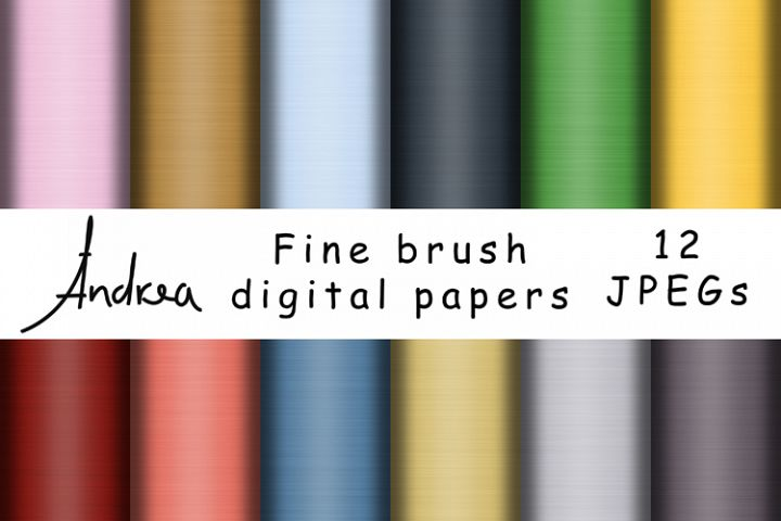 Fine brush digital papers