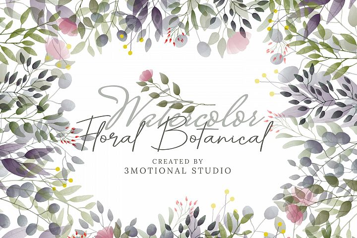 Watercolor Floral Batonicals high res png