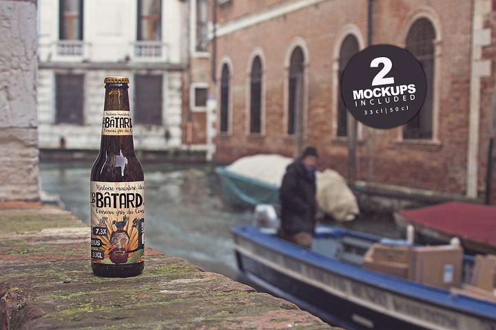Venetian Canal Duo | Beer Mockup