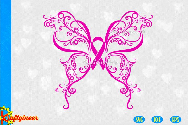 Swirly Butterfly SVG | Awareness SVG