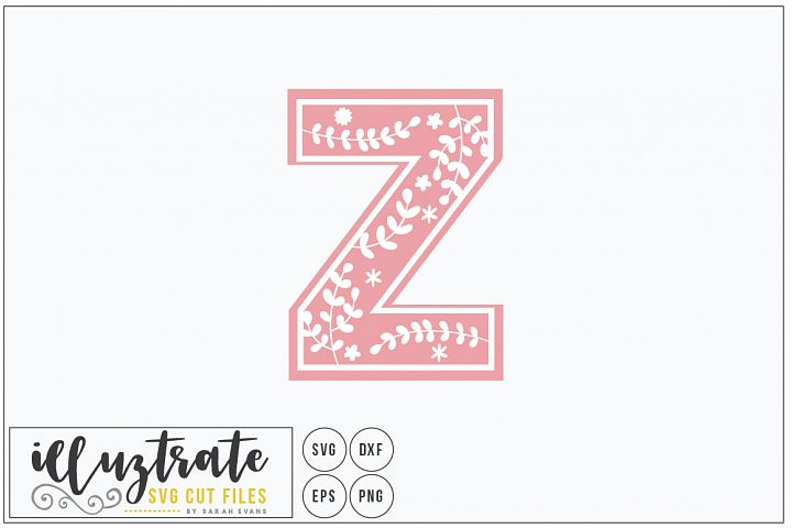 Letter Z SVG Alphabet - DXF cut files - Vector Clipart