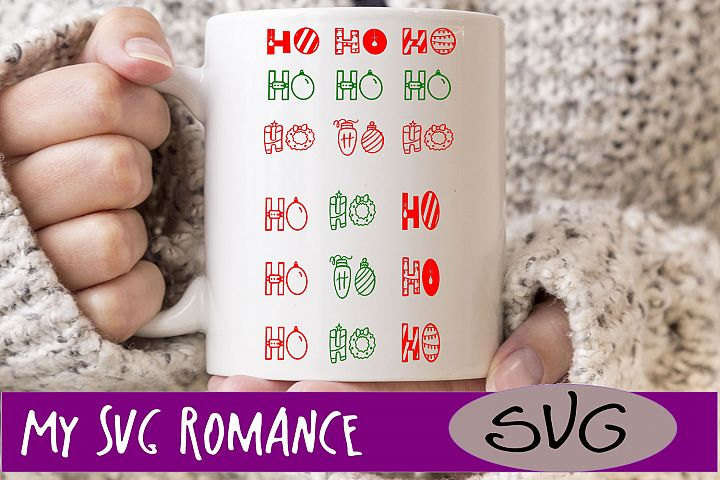 Christmas Saying Ho Ho Ho SVG DXF PNG EPS