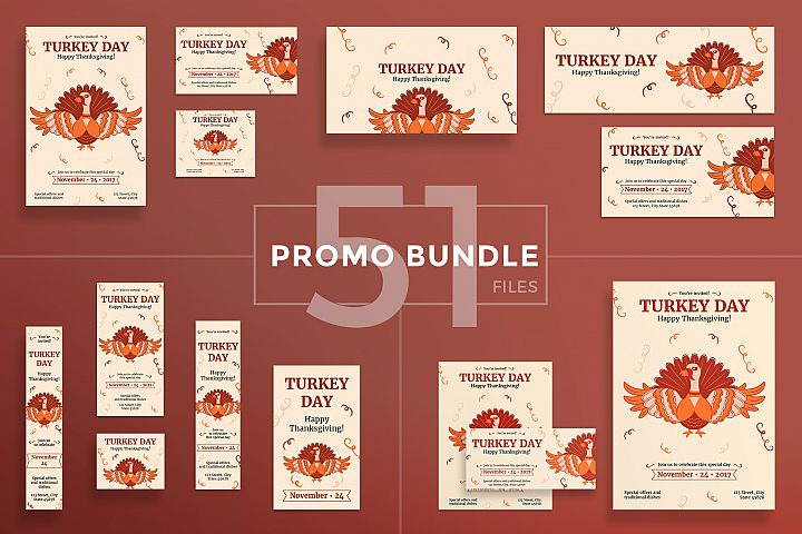 Thanksgiving Celebration Design Templates Bundle