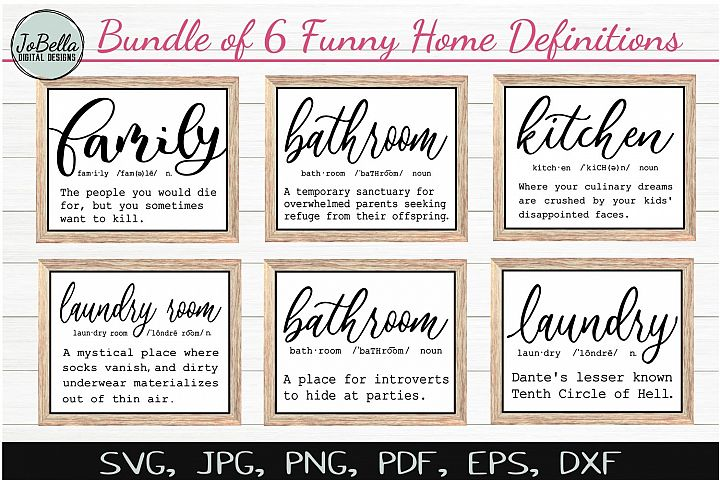Funny Definitions SVG Bundle, Sublimation PNGs & Printables