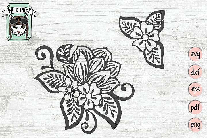 Flower SVG files, Flower cut file, Floral SVG file