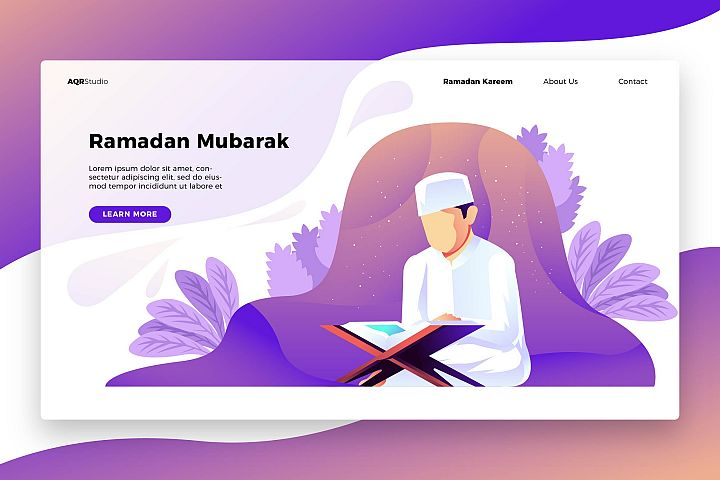 Ramadan Quran - Banner & Landing Page